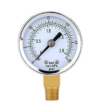 Mini portátil de 0-30 PSI 0-2bar NPT Presión de aceite Manómetro agua