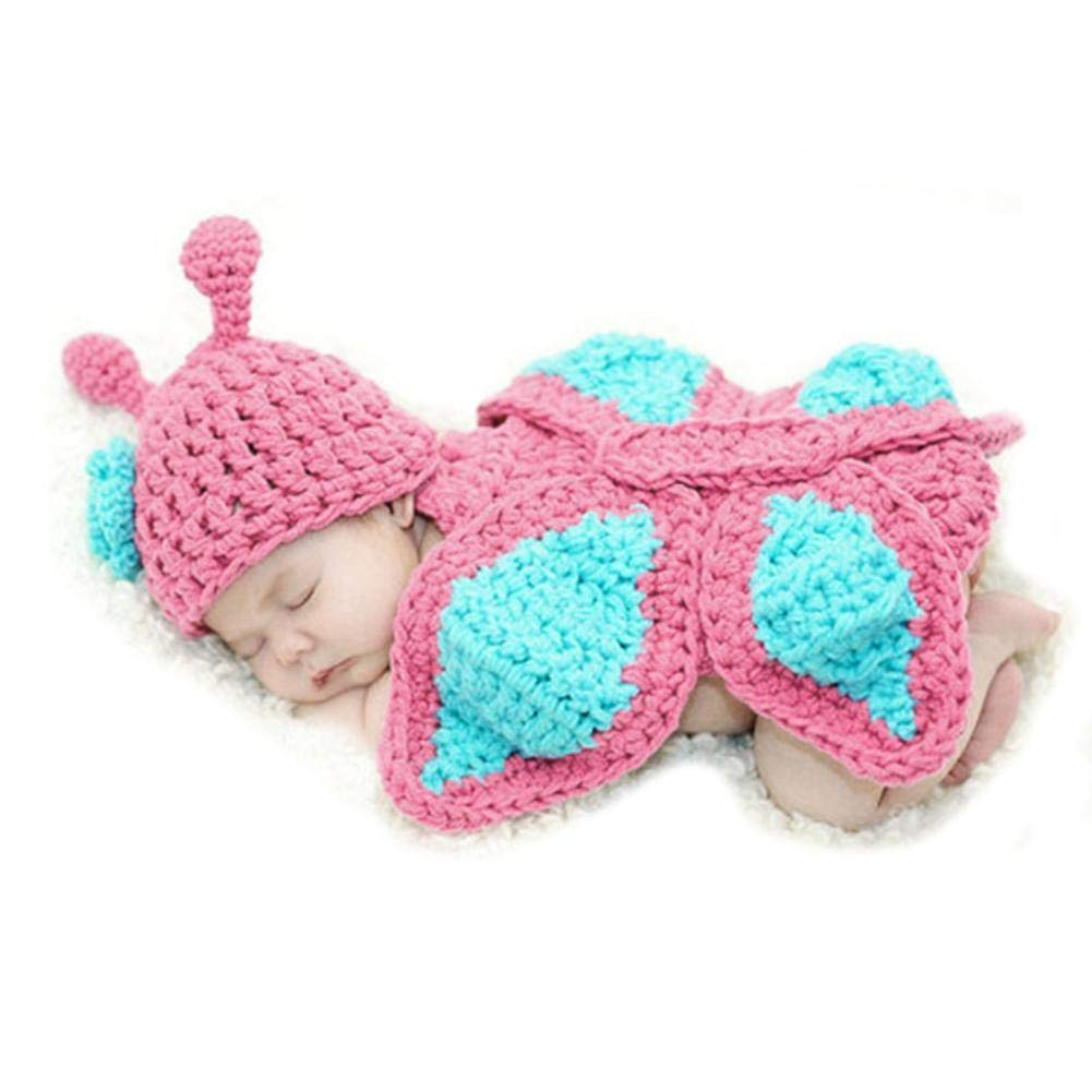 Comfi1 Baby Knit Crochet Photography Romper Clothes Butterfly Photo Prop Outfits