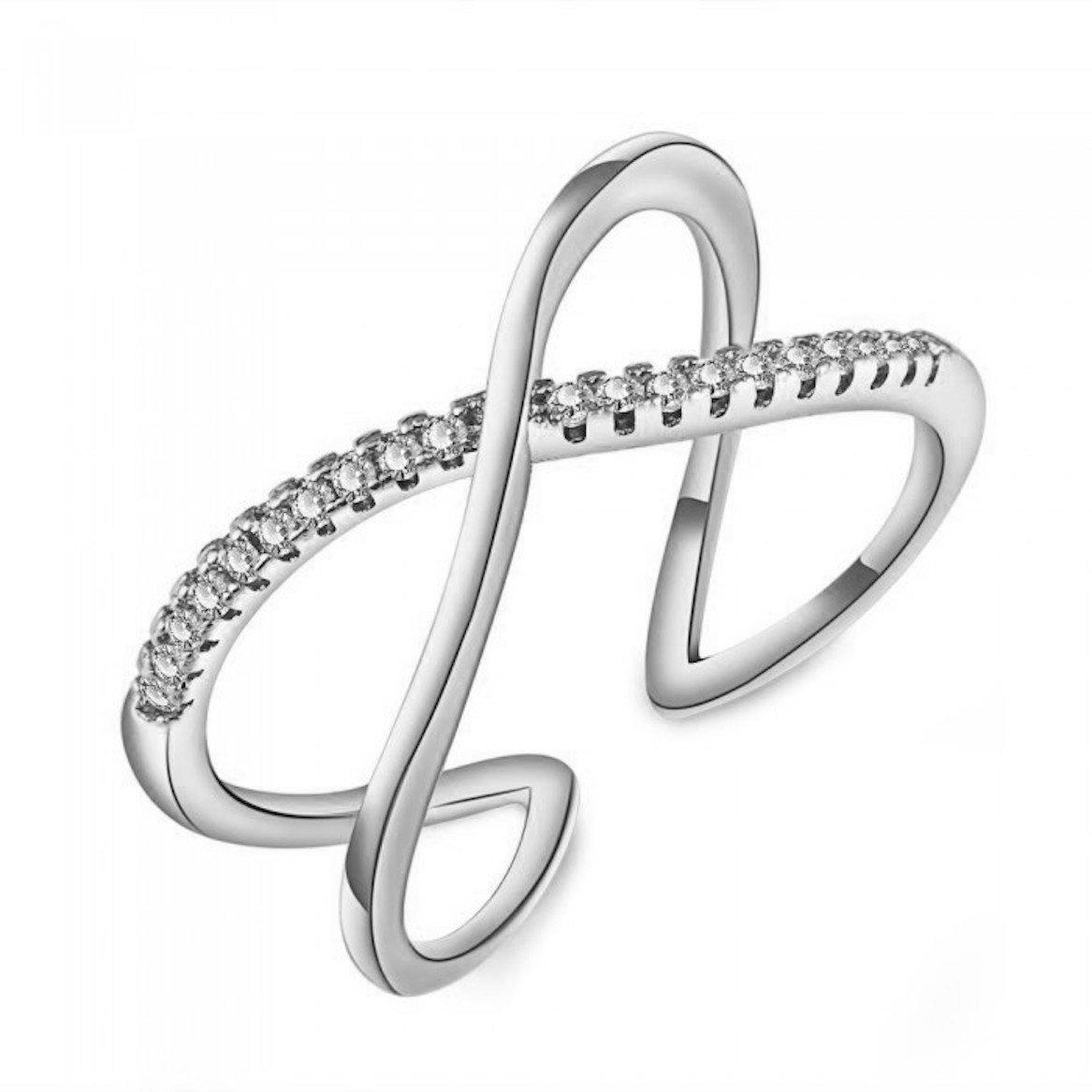 Blush and Bar Nadia X Infinity Ring (Silver)