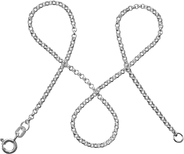 I Silberkette Damen 925 ohne Anh/änger I Zarte Silberne Kette f/ür Frauen mit Geschenk-Etui I Produziert in Deutschland 35-90cm I 2mm breit modabil/é Erbskette Damen Halskette 925er Sterling Silber
