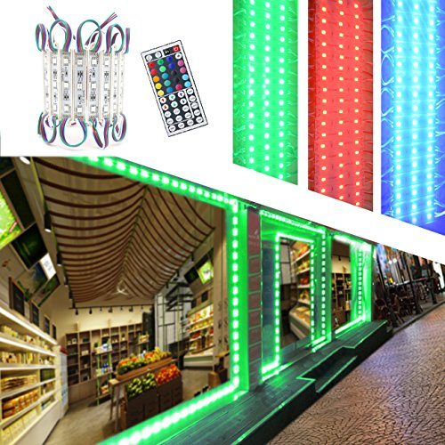LED Storefront Lights,Pomelotree 40ft 80 Pieces Waterproof led window lights for Letter Sign Advertising Signs LED Light module,4 Set 5050 SMD LED Module (RGB light)