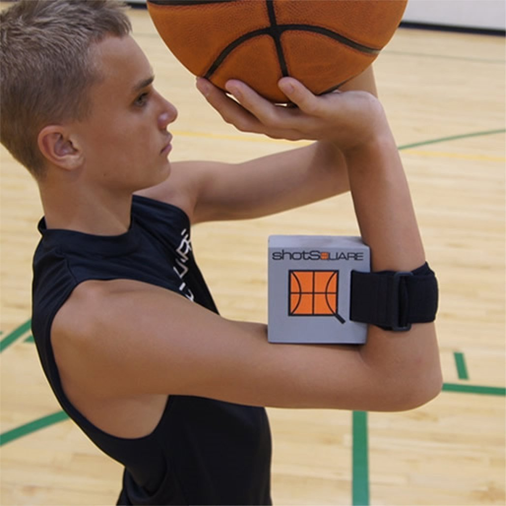 HoopsKing ShotSquare Basketball Training Shooting Aid, Perfect Release & Rotation on Shot