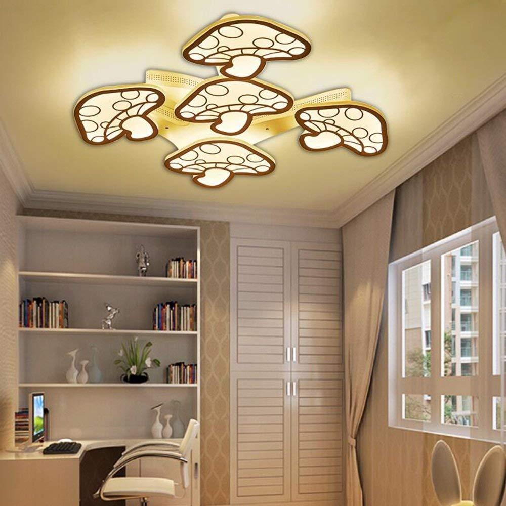 Yaomeimei 天井灯、家庭用リビングルームの寝室の天井灯、モダンなシンプルさで、アクリルがシェードハイライトパッチアイアンを目立たせています照明Rの見えないラウンジランプ (Color : Three-color Dimming-48cm)  Three-color Dimming-48cm B07TH2BVJX