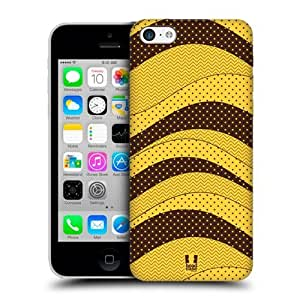 Yellow Dots Wave Patterns Snap-on Back Case Cover For Apple iPhone 5c