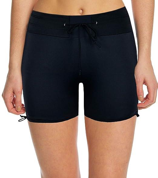 af332a6f28d6b Septangle Women's Tankini Boyshorts Stretch Swim Bottom Swimsuit Yoga  Pants,US 10 Black
