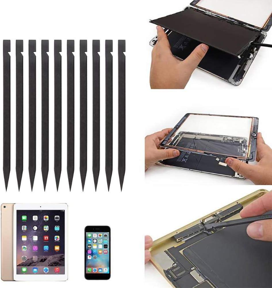 noir 10/pcs Plastique spudgers antistatique t/él/éphone portable Pied de biche Tablette iPad ordinateur portable r/éparation Pry outils de b/âton de barres