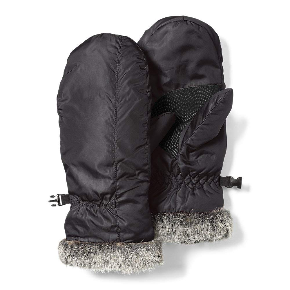Eddie Bauer Women's Lodge Down Mittens, Onyx Regular S