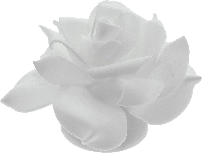 wei/ß im 4er Set FRANK FLECHTWAREN LED-Rose