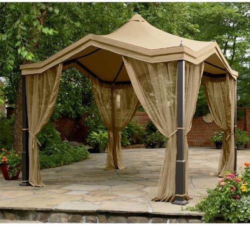 Garden Winds Peaked Top Gazebo Replacement Canopy Top Cover – RipLock 350