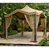 Peaked Top Gazebo Replacement Canopy and Netting – RipLock 350 For Sale