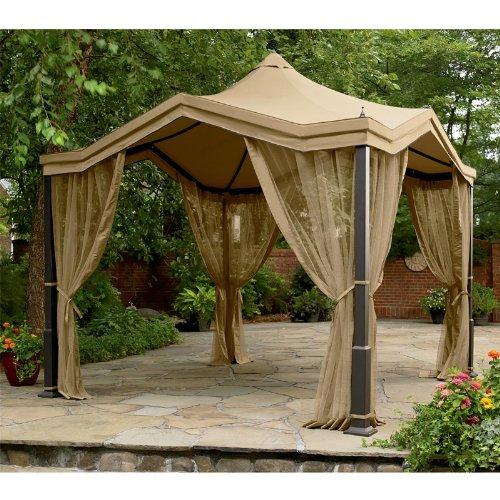 Garden Winds Peaked Top Gazebo Replacement Canopy Riplock 350 Ebay