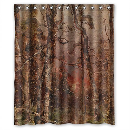 Eyeselect Width X Height / 60 X 72 Inches / W H 150 By 180 Cm Polyester Beautiful Scenery Landscape Painting Bath Curtains Fabric Is Fit For Custom Kids Custom Couples Lover. Mildew Resi]()