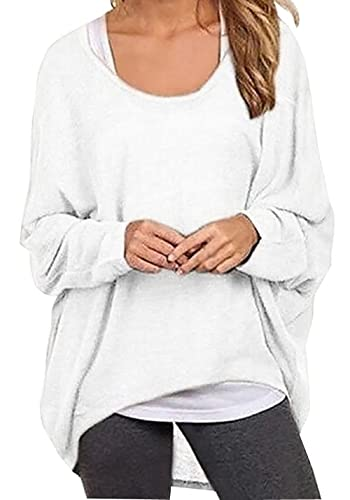 Rjxdlt Women's Batwing Sleeve Pullover Baggy Tops Casual Loose T Shirts Blouses for Women