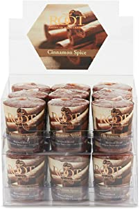 Root Candles 20-Hour Scented Beeswax Blend Votive Candles, 18-Count, Cinnamon Spice