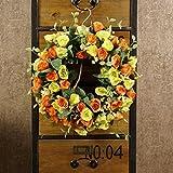 Decorative Seasonal Front Door Wreath Best Seller - Handcrafted Wreath for Outdoor Display in Fall, Winter, Spring, and Summer (Orange)