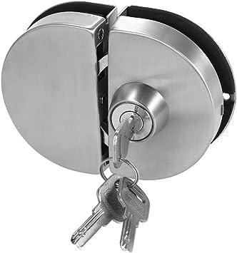Fijo Night einfahrts Puerta Cerradura de Puerta de Cristal, 10 – 12 mm Cristal Balancín Push Cerradura Puerta Corredera con 3 Keys: Amazon.es: Bricolaje y herramientas