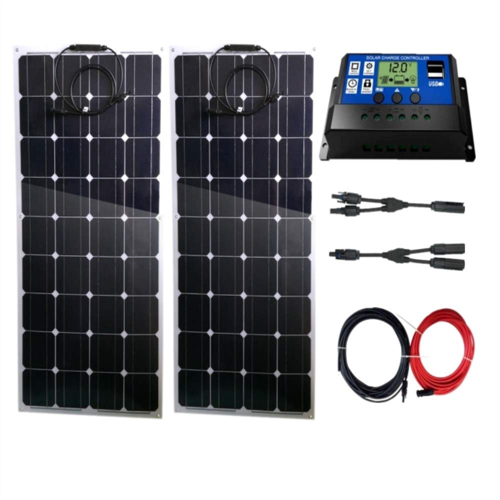 Lowenergie 30W Poly-Crystalline Solar Panel Battery Charging Kit Charger Controller /& Mounting Bracket Set K2 Boats /& Any Flat Surface Motorhomes For Caravans
