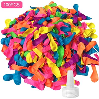 evergremmi 100/1000 Pack Water Balloons with Refill Kits, Quick Refill Latex Water Bomb Balloons Fight Games for Kids and Adults Summer Splash Fun: Arts, Crafts & Sewing
