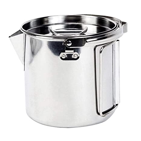 ba508c9f785 Image Unavailable. Image not available for. Color  MyLifeUNIT Outdoor  Stainless Steel Camping Kettle ...