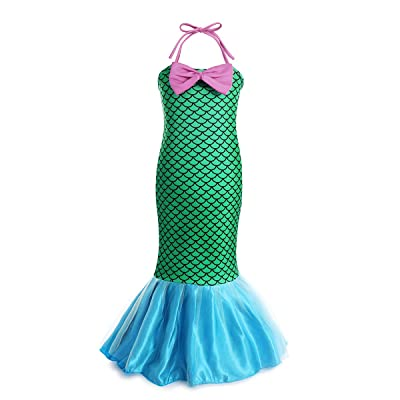 Little Mermaid Dresses for Girls Cosplay Costumes Princess Party Fancy Dress Up for Kids Holiday: Clothing