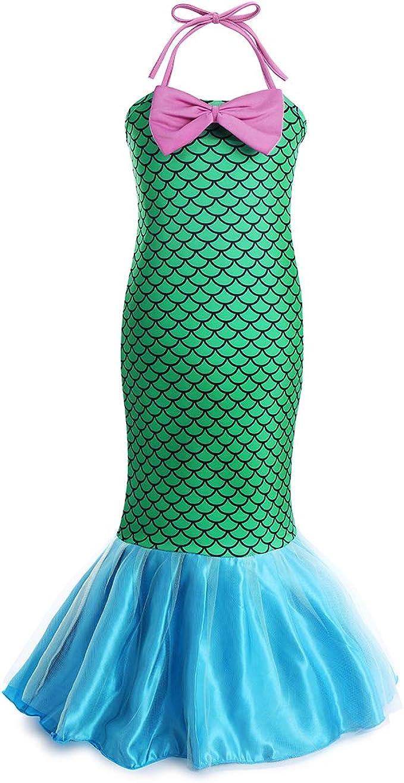 FYMNSI Disfraz de Sirena Niña Princesa Ariel Vestidos Largos ...