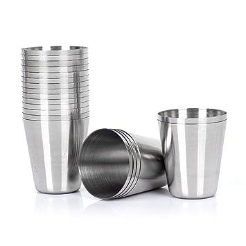 50 vasos de chupito de acero inoxidable de 30 ml: Amazon.es ...