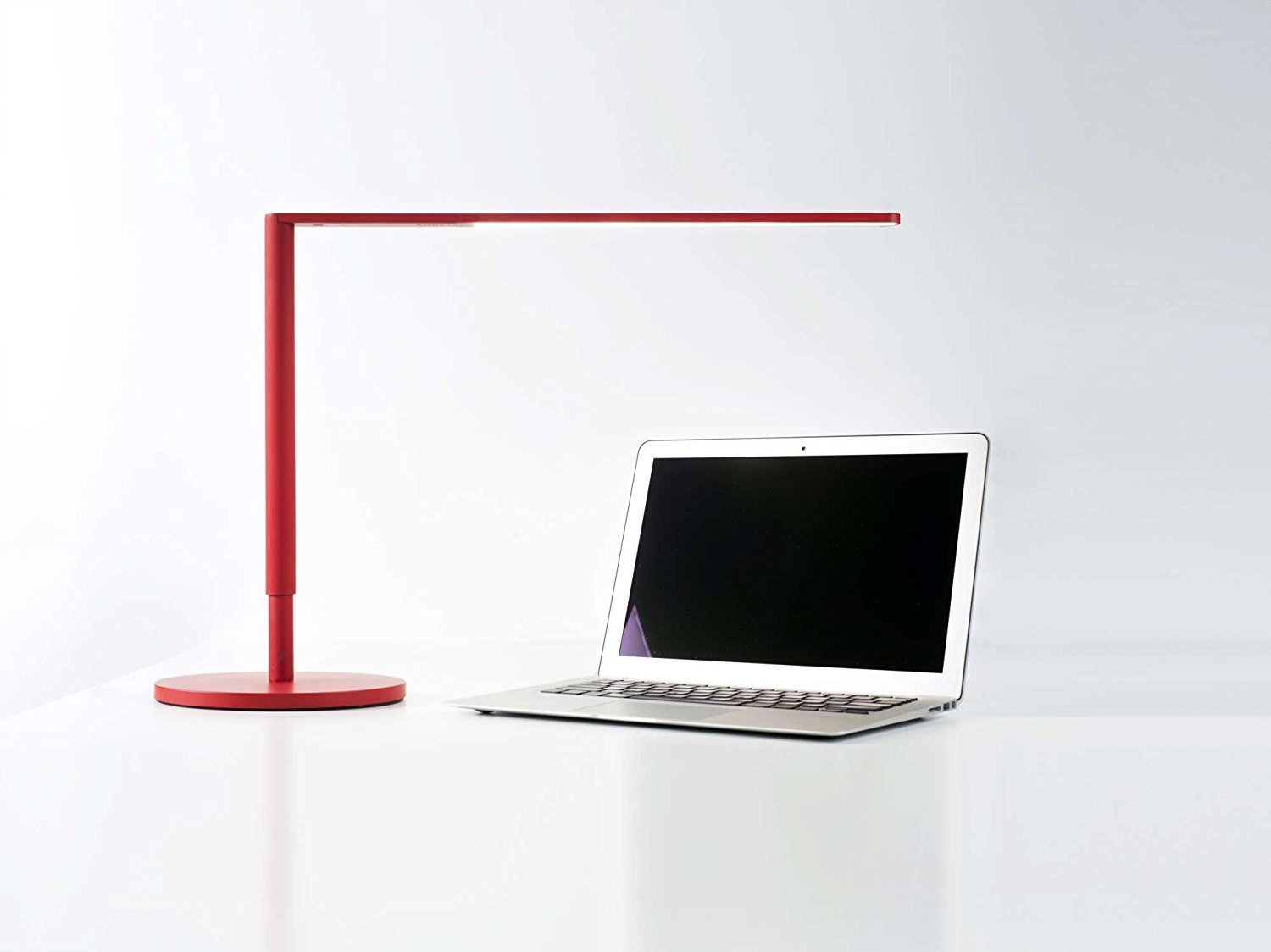 Koncept Lady 7 LED Desk Lamp Light with USB charging port in Red