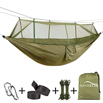 navestar double hammock with bug   convenient  fortable lightweight for outdoor beach camping backpacking   amazon    navestar double hammock with bug   convenient      rh   amazon