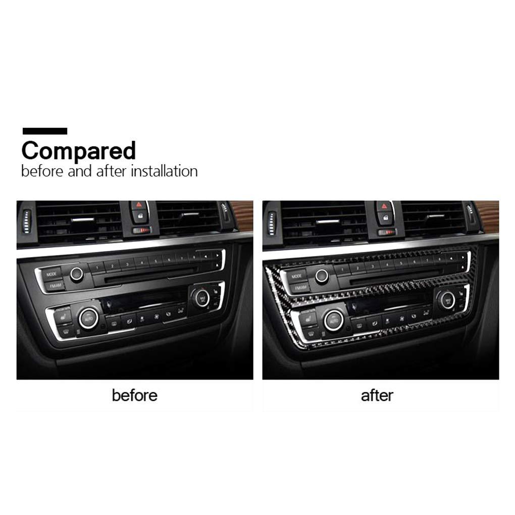 Lorsoul Sticker Cover Decorativa della Striscia in Fibra di Carbonio Aria condizionata Pannello di CD per la BMW Serie 3 F30 F34