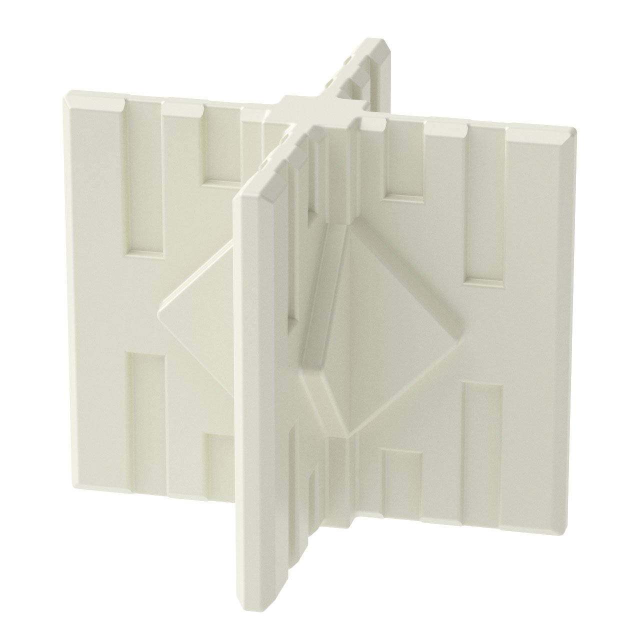 GOGO Panels - CX1W - Cream White Middle/Foot 4-Way Connector