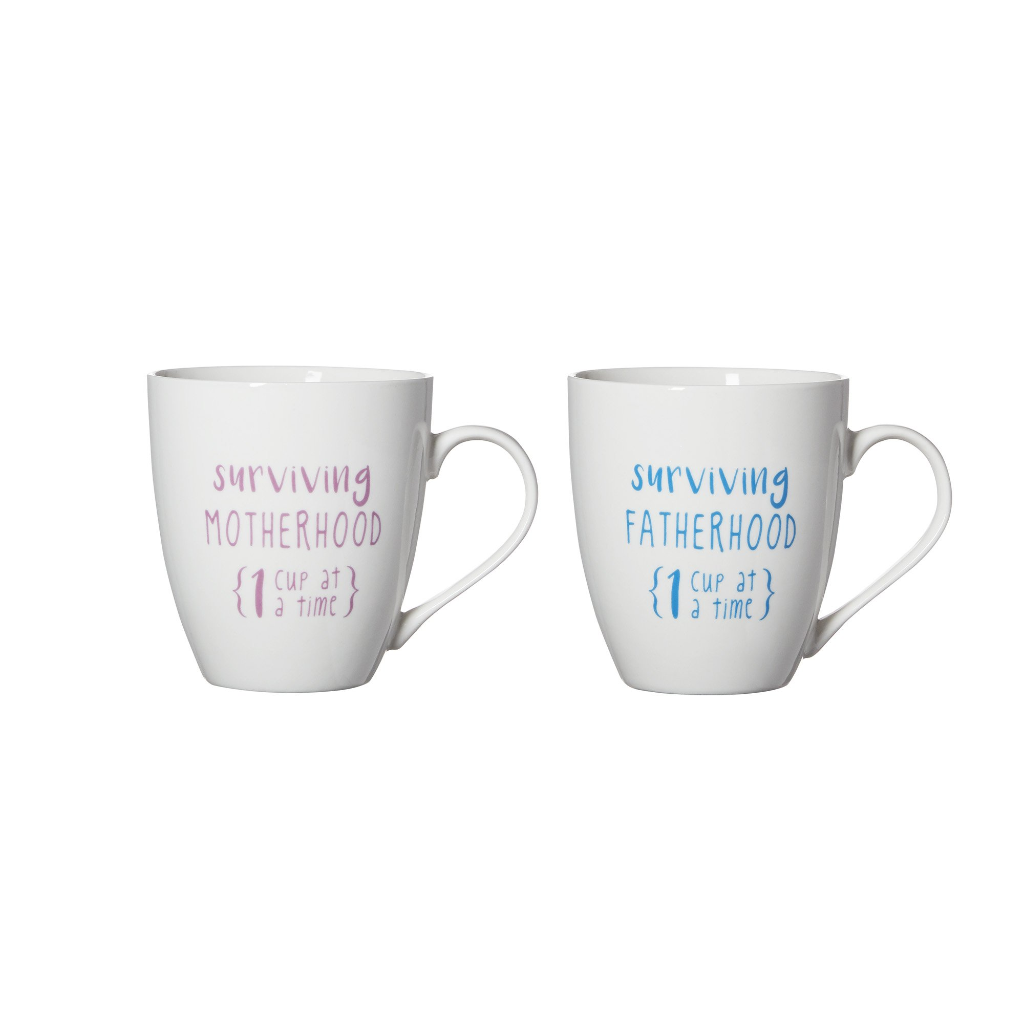 Pfaltzgraff''Surviving Motherhood/Fatherhood'' Everyday Mug (Set of 2), 18 oz, Assorted