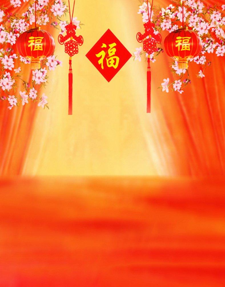 Chinese Traditional Best Wishesドット写真Backdrops写真小道具Studio背景5 x 7ft   B01HG9K278