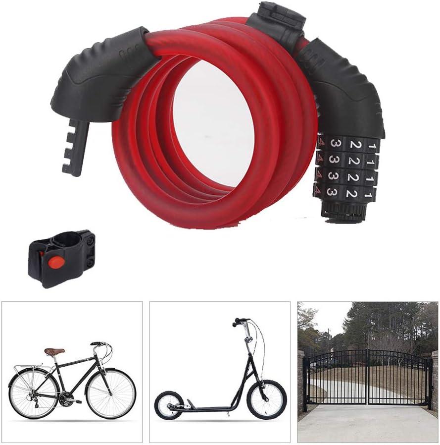 Candado Bici,Candado Bicicleta Alta Seguridad con Abrazadera de ...