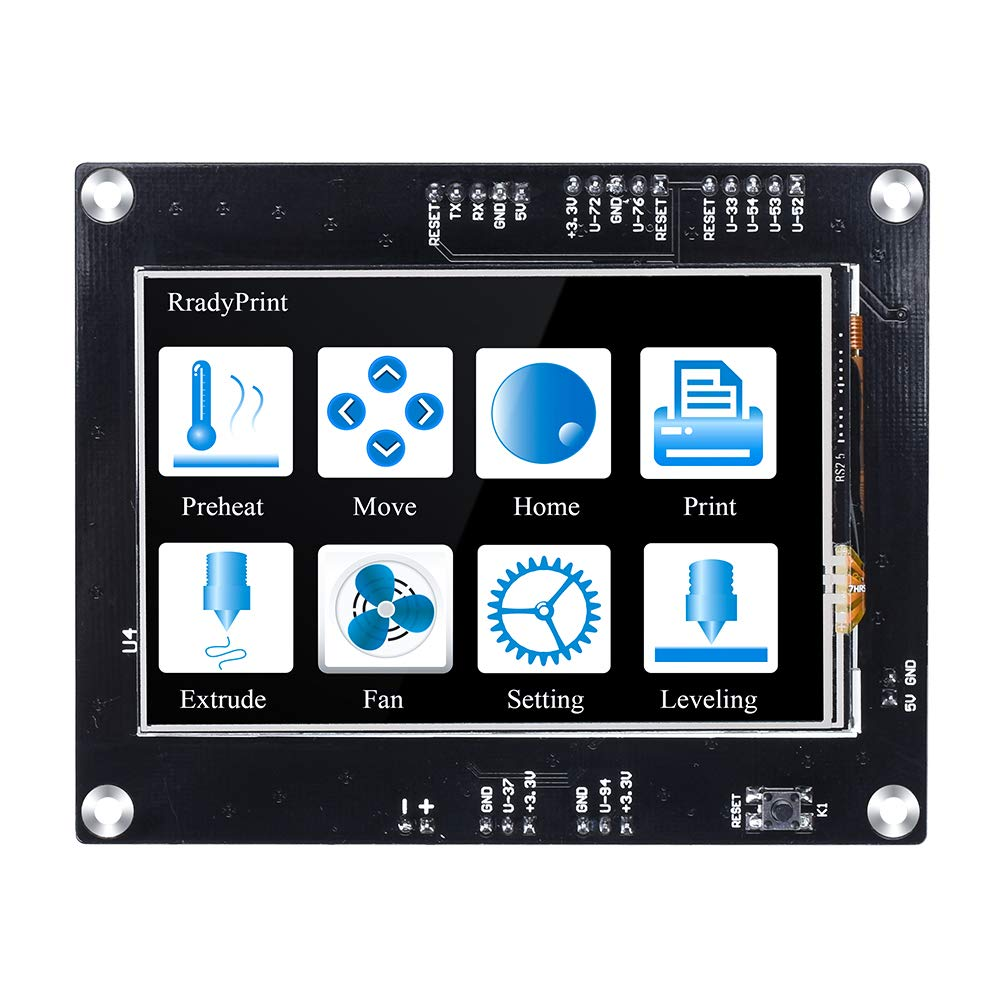 BIQU 3D Printer Parts TFT35 V1.2 Touch Screen Display 3.5 Inch RepRap Smart Controller Panel Compatible with MKS GEN V1.4 Control Board