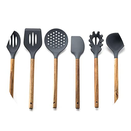 Amazon Com Silicone Cooking Utensil Set Nonstick Cooking