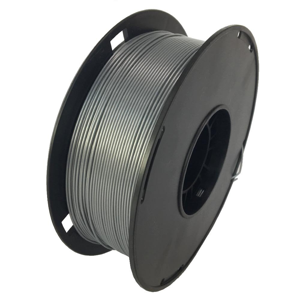 NOVAMAKER 3D Printer Filament - Silver 1.75mm PLA Filament, PLA 1kg(2.2lbs), Dimensional Accuracy +/- 0.03mm