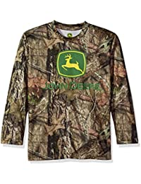 Boys' Long Sleeve Poly Tee Camo