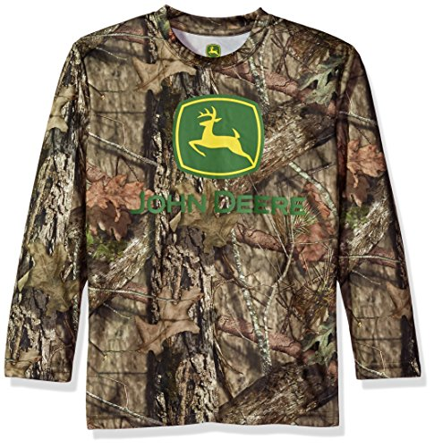 - John Deere Boys' Little Long Sleeve Poly Tee Camo, 5