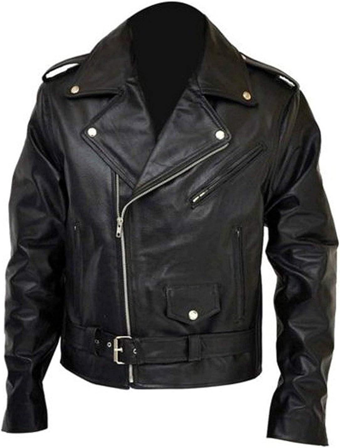 Judgment Day Fantasy Real Leather Jacket Arnold Schwarzenegger Terminator 2