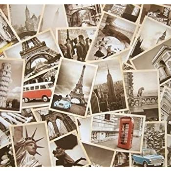 JQWORKLAND 32 PCS 1 Set Vintage Retro Old Travel Postcards for Worth Collecting