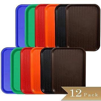 """Conjunto de 12 – truecraftware plástico Bandejas de comida rápida 12 x 16 """" –"""