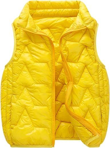 Kids Girls Boys Winter Warm Cotton Down Vest Waistcoat Quilted Sleeveless Coat