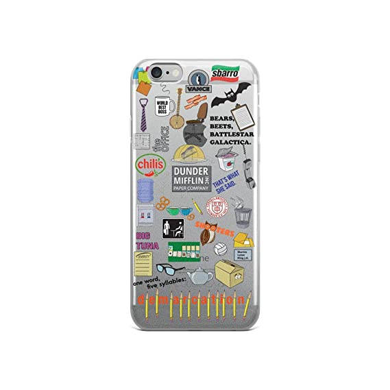 the best attitude 1a305 a2622 Amazon.com: The Office Phone Case iPhone 6 6s Dunder Mifflin Schrute ...