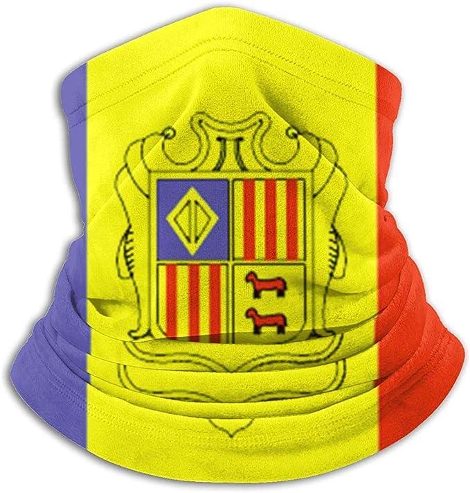 Andorra Flag Neck Warmer For Men Women Ski Neck Gaiter Cover ...