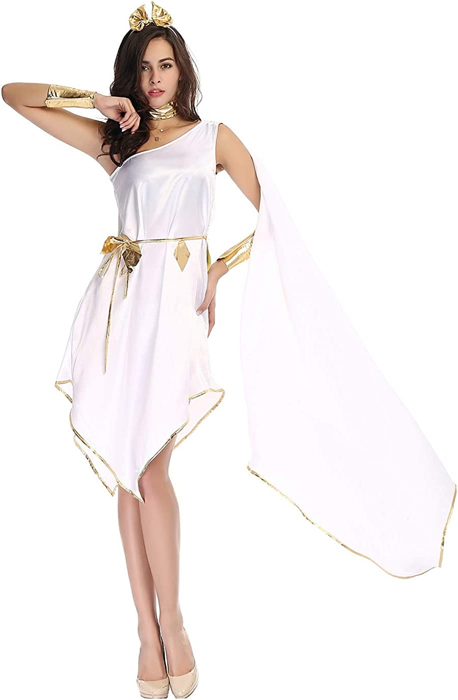 Toga Costume Mens Ladies Greek Roman Fancy Dress Adults Grecian Goddess Outfit