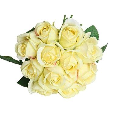 Tagether 11 Kopf Kunstliche Gefalschte Rosen Blume Brautstrauss