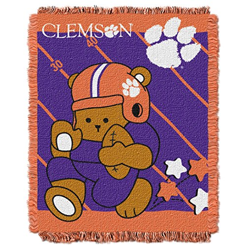 (The Northwest Company Officially Licensed NCAA Clemson Tigers Fullback Woven Jacquard Baby Throw Blanket, 36