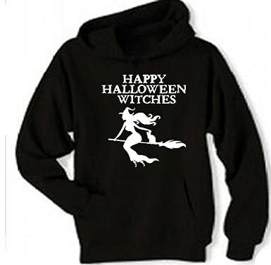 custom kingdom adult menswomens happy halloween witches hoodie sweatshirt 2x black
