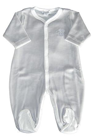 13342246b1a Amazon.com  Kissy Kissy Baby-Boys Infant Giraffe Kins Velour Footie-Silver- Newborn  Clothing