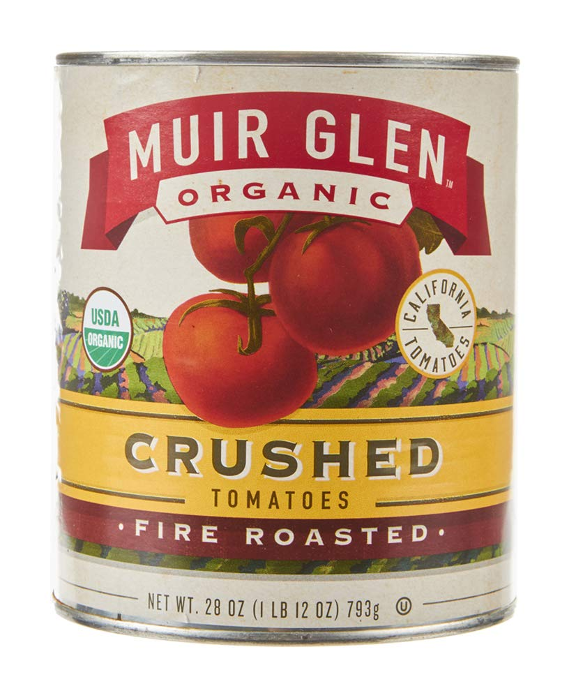 Muir Glen, Organic Crushed Fire Roasted Tomatoes, 28 oz